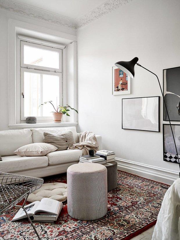 Фотография: Гостиная в стиле Современный, Скандинавский, Декор интерьера, Карта покупок, Квартира, Белый – фото на INMYROOM