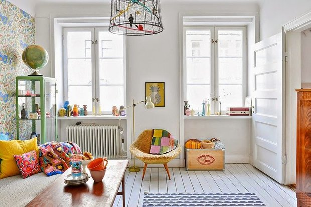 Фотография: Гостиная в стиле Скандинавский, Советы, Белый – фото на INMYROOM