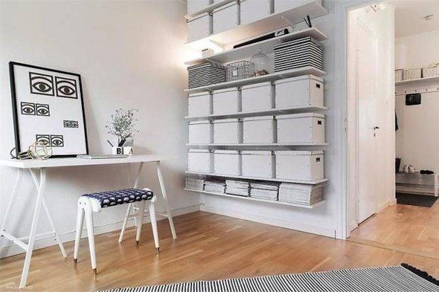 Фотография: Декор в стиле Скандинавский, Кабинет, Интерьер комнат – фото на INMYROOM