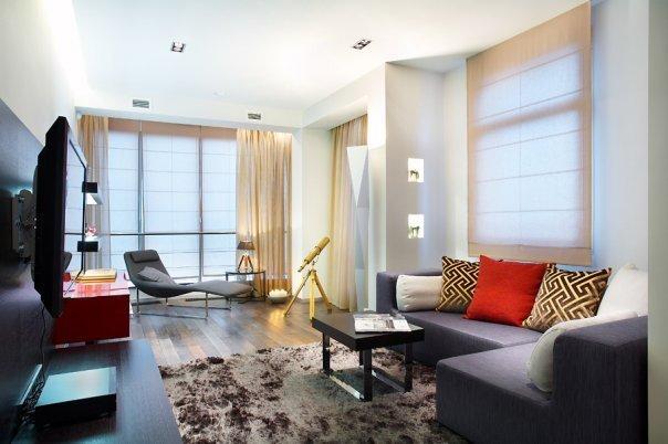 Фотография: Гостиная в стиле Минимализм, Декор интерьера, Квартира, Мебель и свет, Цвет в интерьере, Дома и квартиры – фото на INMYROOM