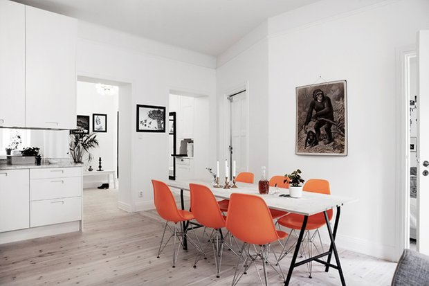 Фотография: Кухня и столовая в стиле Эклектика, Декор интерьера, Дизайн интерьера, Цвет в интерьере, Советы, Белый – фото на INMYROOM