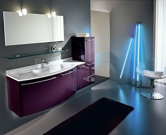 Фотография: Ванная в стиле Хай-тек, Декор интерьера, Мебель и свет, Светильник – фото на INMYROOM