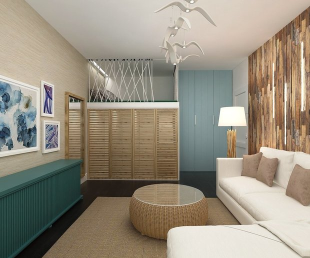 Фотография: Гостиная в стиле Эко, Спальня, Гид – фото на INMYROOM