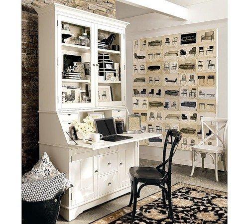 Фотография: Кабинет в стиле Прованс и Кантри, Дом, Дома и квартиры, Стол – фото на INMYROOM