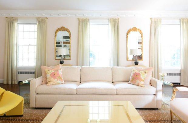 Фотография: Гостиная в стиле Эклектика, Декор интерьера, Зеленый, Бежевый, Серый, Розовый, Голубой – фото на INMYROOM