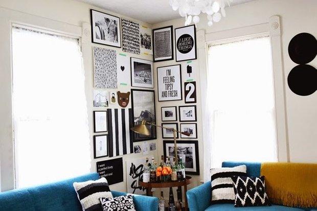 Фотография: Декор в стиле Скандинавский, Эклектика, Декор интерьера, Мебель и свет, Советы, Белый, как оформить пустой угол, пустой угол в квартире – фото на INMYROOM