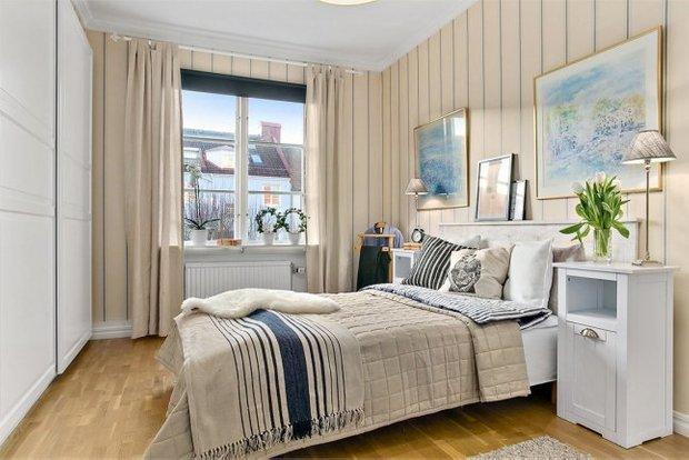 Фотография: Спальня в стиле Скандинавский, Эклектика, Декор интерьера, Квартира, Декор, Мебель и свет, Белый, Бежевый – фото на INMYROOM