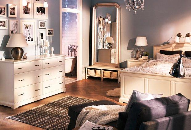 Фотография: Спальня в стиле Скандинавский, Интерьер комнат, IKEA – фото на InMyRoom.ru