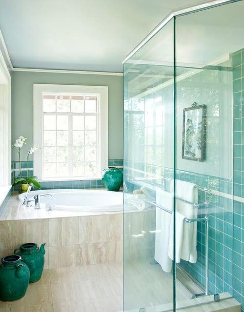 Фотография: Ванная в стиле Современный, Эклектика, Декор интерьера, Дизайн интерьера, Декор, Зеленый, Ванна, Эко – фото на INMYROOM