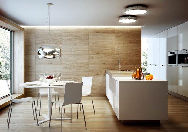 Фотография: Кухня и столовая в стиле Скандинавский, Современный, Интерьер комнат, Delightfull, LZF, Mood, Светильники – фото на INMYROOM