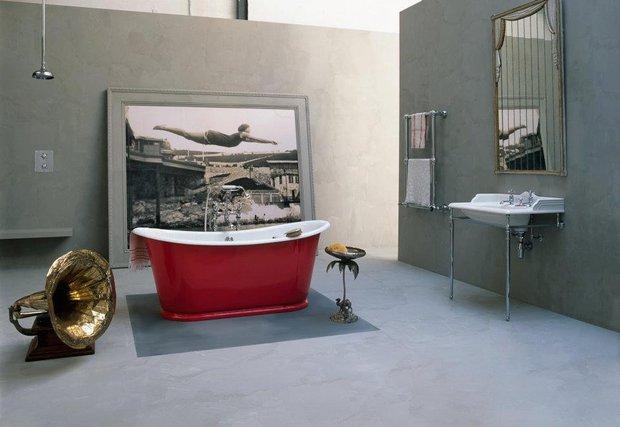 Фотография: Ванная в стиле Современный, Декор интерьера, Мебель и свет, Текстиль, Индустрия, События, Обои, Посуда, Ткани, Маркет, Плитка, Maison & Objet, Плед, Бытовая техника – фото на InMyRoom.ru