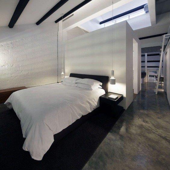 Фотография: Спальня в стиле Лофт, Квартира, Дома и квартиры, Лестница – фото на INMYROOM