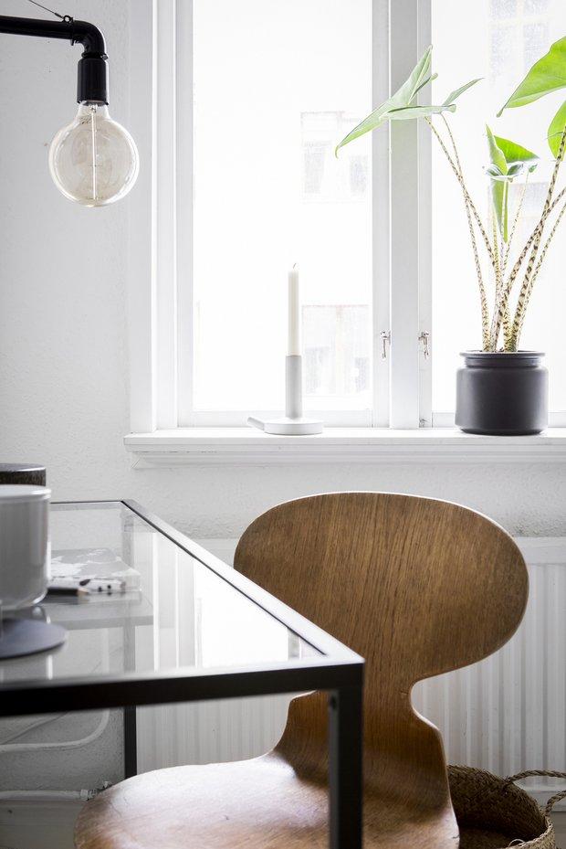Фотография: Кабинет в стиле Скандинавский, Декор интерьера, Квартира, Швеция, Белый, Гетеборг, 2 комнаты, 40-60 метров – фото на INMYROOM