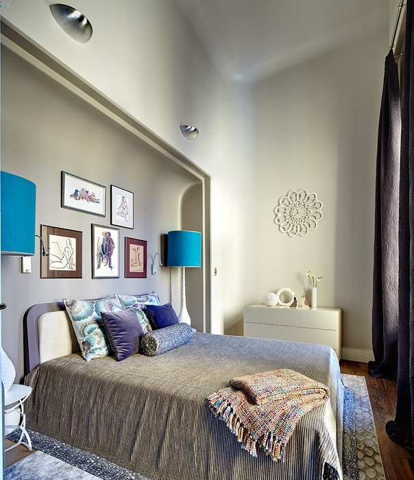 Фотография: Спальня в стиле Эклектика, Квартира, Дома и квартиры, Перепланировка – фото на INMYROOM