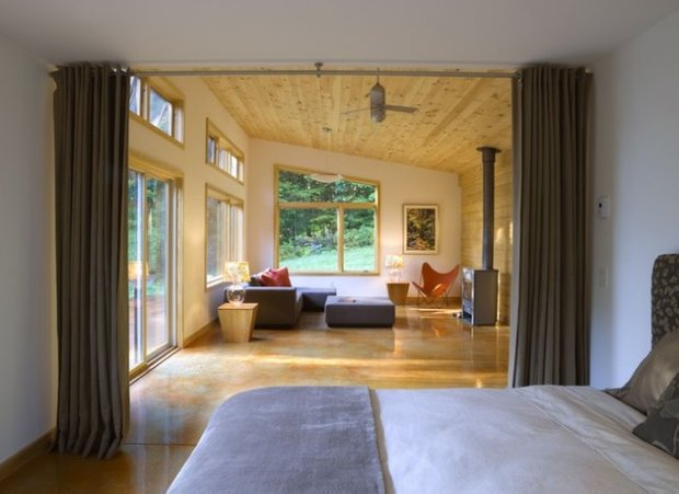 Фотография: Спальня в стиле Современный, Декор интерьера, Мебель и свет, Перегородки – фото на INMYROOM
