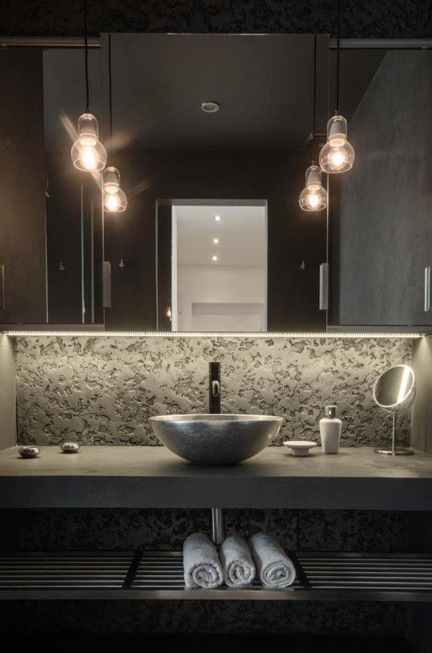 Фотография: Ванная в стиле Современный, Квартира, Дома и квартиры, Минимализм – фото на INMYROOM