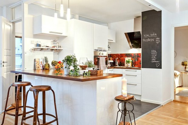 Фотография: Кухня и столовая в стиле Скандинавский, Декор интерьера, Квартира, Аксессуары, Декор, Белый – фото на InMyRoom.ru