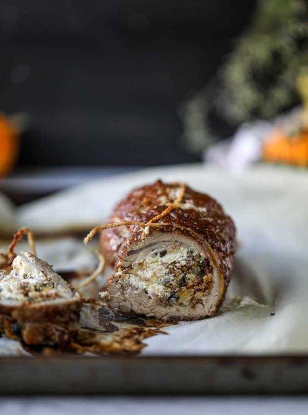 Фотография:  в стиле , Ужин, Основное блюдо, Мясо, Кулинарные рецепты, 1 час, Пришли гости, Европейская кухня, Тыква, Средняя сложность, Свинина, Запекание – фото на INMYROOM