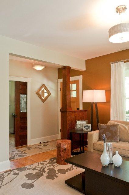 Фотография: Гостиная в стиле Скандинавский, Прихожая, Интерьер комнат – фото на INMYROOM