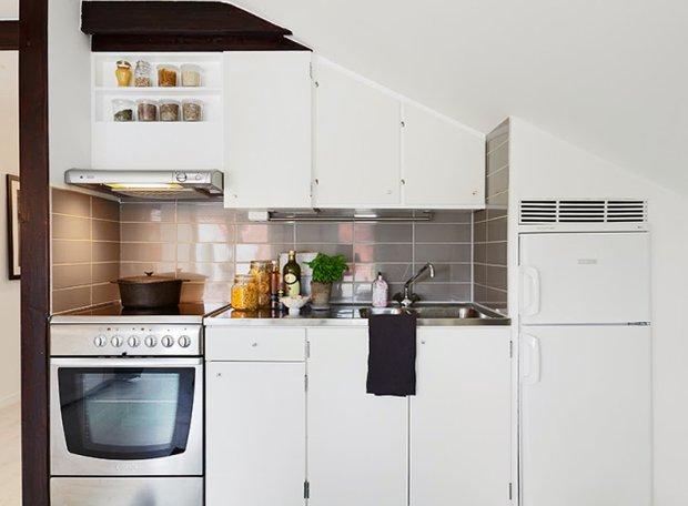 Фотография: Прочее в стиле , Скандинавский, Малогабаритная квартира, Квартира, Дома и квартиры, Мансарда – фото на InMyRoom.ru