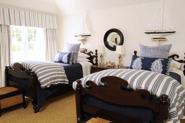 Фотография: Спальня в стиле Прованс и Кантри, Декор интерьера, Часы, Декор дома, Ткани, Галерея Арбен, Морской, Лампы – фото на INMYROOM