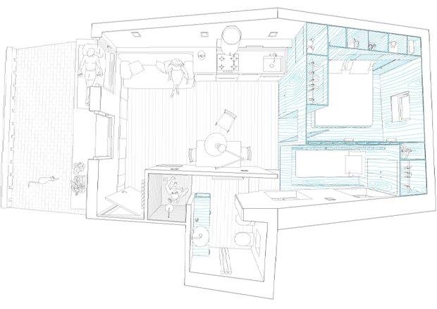 Фотография: Планировки в стиле , Квартира, Цвет в интерьере, Дома и квартиры, Белый, Минимализм – фото на INMYROOM