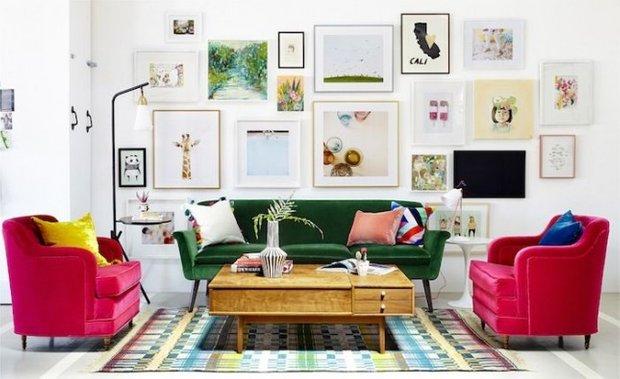 Фотография: Гостиная в стиле Восточный, Малогабаритная квартира, Интерьер комнат – фото на INMYROOM