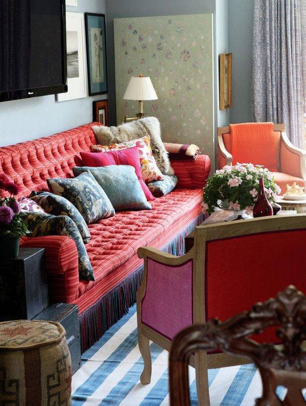 Фотография: Гостиная в стиле Восточный, Эклектика, Декор интерьера, Декор дома, Картины, Окна, Пол – фото на INMYROOM