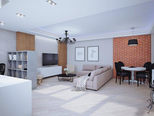 Фотография: Гостиная в стиле Лофт, Современный, Классический, Квартира, Планировки, Мебель и свет, Проект недели – фото на INMYROOM