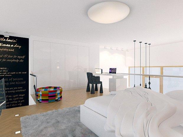 Фотография: Спальня в стиле Лофт, Современный, Декор интерьера, Квартира, Artemide, Axo Light, Moooi, Дома и квартиры, Проект недели – фото на INMYROOM