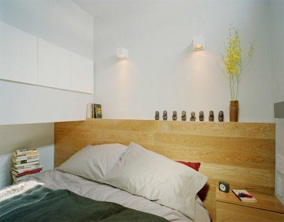 Фотография: Спальня в стиле Эко, Декор интерьера, Малогабаритная квартира, Квартира, Цвет в интерьере, Дома и квартиры, Белый – фото на INMYROOM