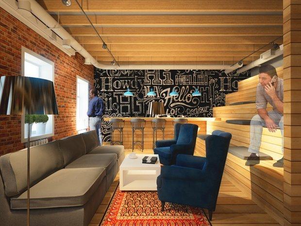 Фотография: Гостиная в стиле Лофт, Современный, Офисное пространство, Офис, Дома и квартиры – фото на INMYROOM