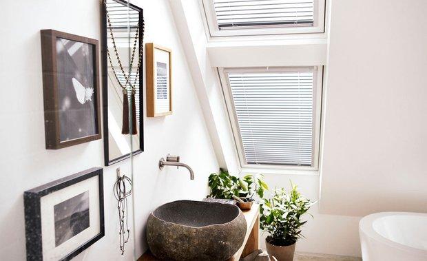 Фотография: Ванная в стиле Современный, Эко, Квартира, Декор, Советы, как выбрать жалюзи, жалюзи на окна – фото на INMYROOM