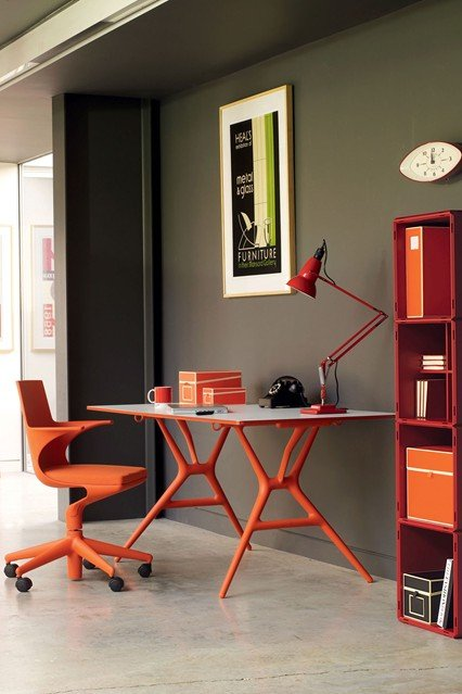 Фотография: Офис в стиле Современный, Декор интерьера, Дизайн интерьера, Цвет в интерьере, Краска – фото на INMYROOM