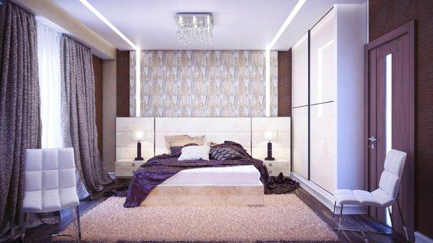 Фотография: Спальня в стиле Современный, Хай-тек, Декор интерьера, Декор, текстиль в интерьере, декор окна, выбор штор для интерьера – фото на INMYROOM