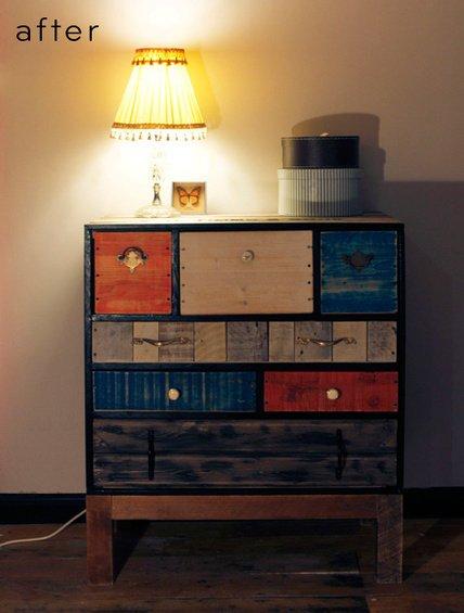 Фотография: Кухня и столовая в стиле Эко, Декор интерьера, DIY, Мебель и свет, Переделка, Кресло, Диван, Люстра, Комод, Зеркало, Стул, Холодильник, идеи переделки старой мебели, переделка старой мебели фото – фото на INMYROOM