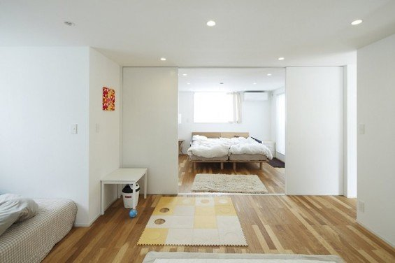 Фотография: Спальня в стиле Скандинавский, Дом, Дома и квартиры, Япония – фото на InMyRoom.ru