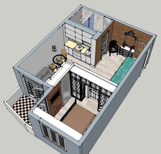 Фотография: Прочее в стиле , Гардеробная, Квартира, Хранение, Дома и квартиры, Переделка – фото на INMYROOM