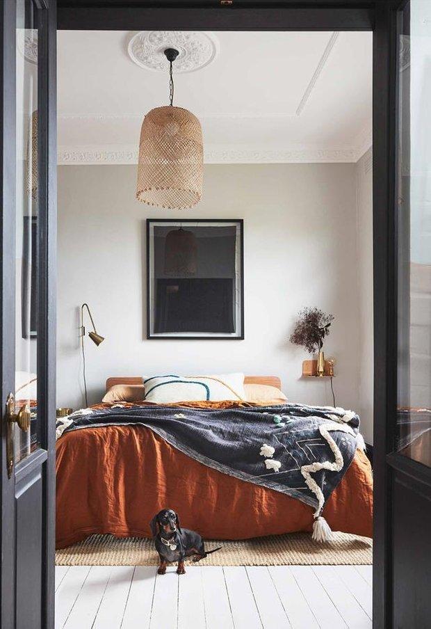 Фотография: Спальня в стиле Скандинавский, Декор интерьера, Квартира, Серый, Розовый, Сидней – фото на INMYROOM