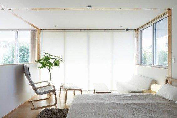 Фотография: Спальня в стиле Минимализм, Эко, Дом, Дома и квартиры, Япония – фото на INMYROOM
