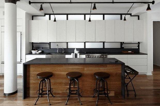 Фотография: Кабинет в стиле Прованс и Кантри, Кухня и столовая, Гостиная, Декор интерьера, Квартира, Студия, Дом, барная стойка на кухне, кухня-гостиная с барной стойкой – фото на INMYROOM