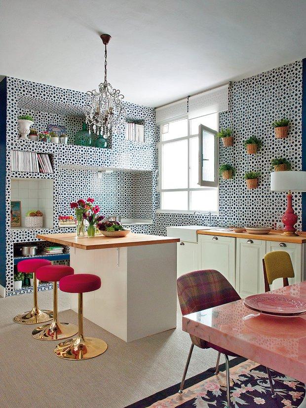 Фотография: Кухня и столовая в стиле Эклектика, Классический, Современный, Квартира, Дома и квартиры – фото на INMYROOM