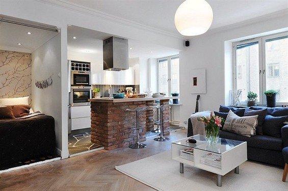 Фотография: Гостиная в стиле Лофт, Скандинавский, Декор интерьера, Мебель и свет – фото на INMYROOM