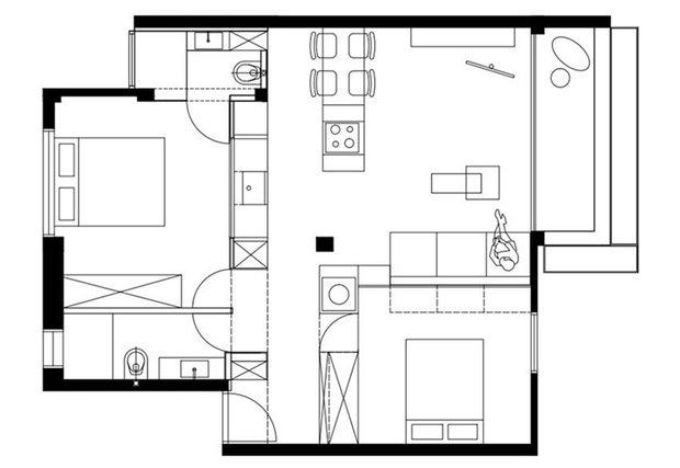 Фотография: Планировки в стиле , Декор интерьера, Квартира, Белый – фото на INMYROOM