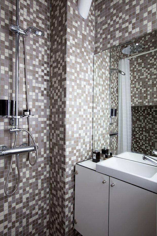 Фотография: Гардеробная в стиле Современный, Эко, Малогабаритная квартира, Студия, Белый – фото на INMYROOM