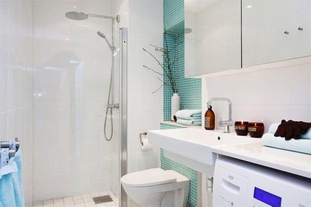 Фотография: Ванная в стиле Скандинавский, Малогабаритная квартира, Квартира, Дома и квартиры – фото на INMYROOM