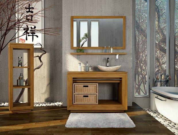 Фотография: Ванная в стиле Прованс и Кантри, Современный, Восточный, Интерьер комнат, Teak House, Эко – фото на INMYROOM