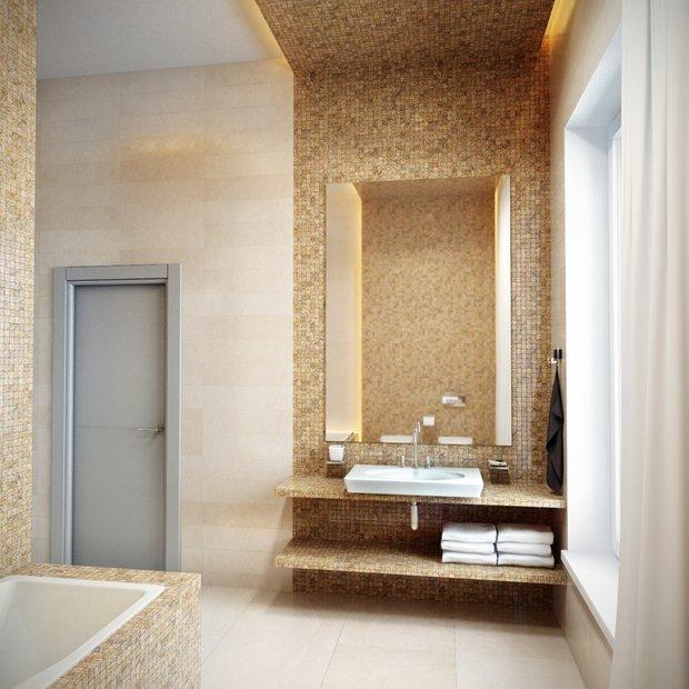 Фотография: Ванная в стиле Восточный, Планировки, Индустрия, События, Ремонт на практике – фото на INMYROOM