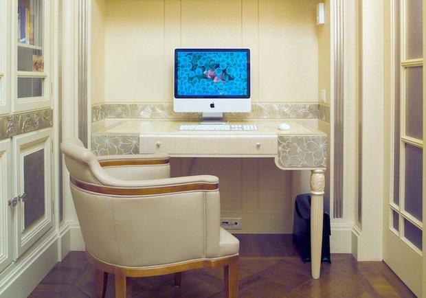 Фотография: Офис в стиле Современный, Декор интерьера, Мебель и свет, Мозаика, Декоративная штукатурка, Альтокка – фото на INMYROOM