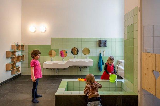 Фотография: Ванная в стиле Современный, Детская, Интерьер комнат – фото на InMyRoom.ru